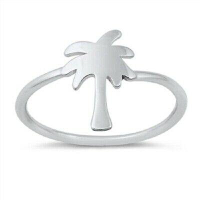 Palm Tree Gift (Sterling Silver Palm Tree Ring - Free Gift Packaging )