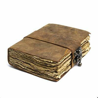 Old Vintage Leather Journal - Lock Closure, Book of Shadows Journal, 240 Pages