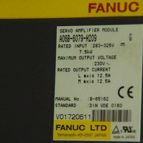 Reconditioned Fanuc Servo Amplifier ( A06b-6079-h209 )