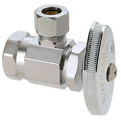 Angle Stop Valve - Brass Craft Or17x C1 Water Supply Line Angle Stop Valve, 1/2