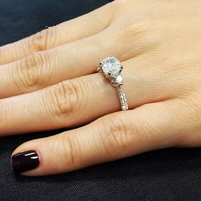 2.91 Ct. 3-Stone Round Cut Diamond Engagement Ring GIA G, SI1 100% Conflict Free 1