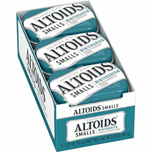 Altoids Smalls Wintergreen Sugarfree Mints, 0.37 Ounce (9 Packs)