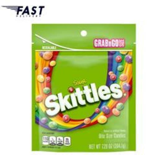 Skittles Sour Chewy Candy Grab N Go Bag, 7.2oz