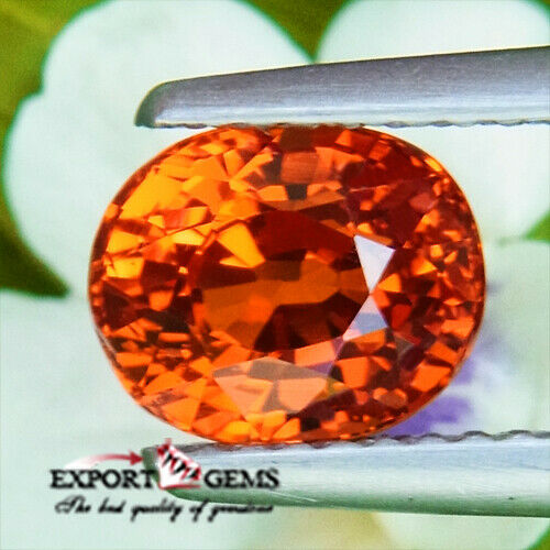 UNHEATED 2.09CT NATURAL OVAL ORANGE SPESSATITE GARNET