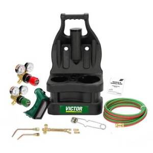 Victor Portable Tote Torch Kit for Brazing Soldering Without Bottles