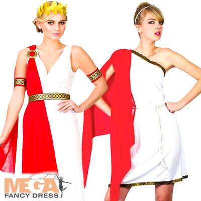Roman Ladies Fancy Dress Anicent Grecian Goddess Womens Adult Toga Costume - Grecian Fancy Dress Kostüm