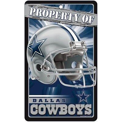 DALLAS COWBOYS ~ Property of Wall Display Helmet 7.25 x 12 Sign Decoration](Dallas Cowboy Decorations)