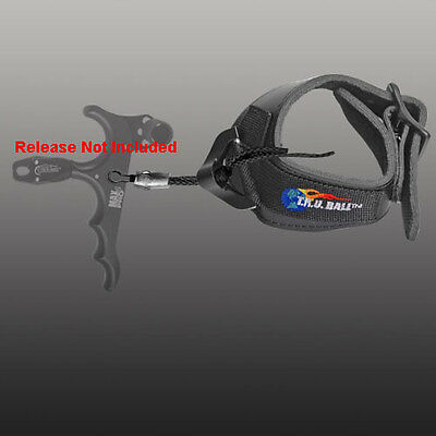 TRU Ball Archery Release Replacement Strap V-Lock Buckle Black Large #79930