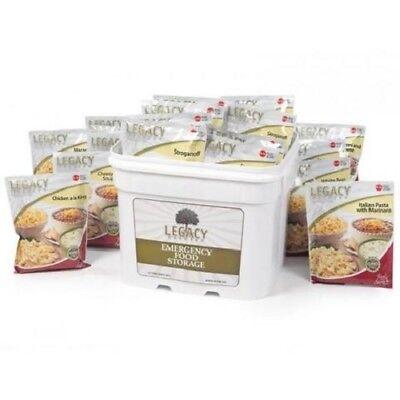 Legacy Essential Premium 120 Serving Emergency Food Entree Bucket-GRAB AND GO