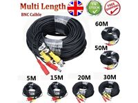 CCTV Cable DVR RCA Audio Video Phono Power Supply Security Camera Lead 5m - 30m