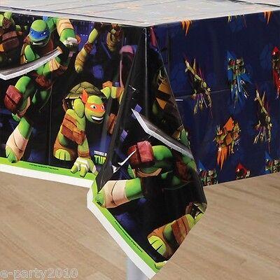 TEENAGE MUTANT NINJA TURTLES PLASTIC TABLECOVER ~ Birthday Party Supplies Table - Ninja Turtles Birthday Party Supplies