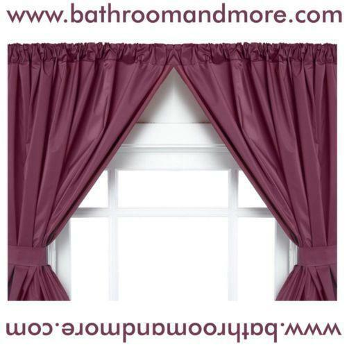 Vinyl Bathroom Window Curtain