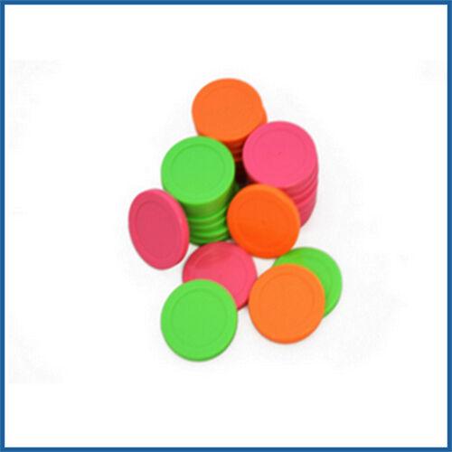 Mini Pucks PM95-1548 (Pack of 60) Pink, Green, Orange- Pacman Smash Air Hockey