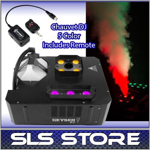 Chauvet Geyser P7 RGBA+UV Pyrotechnic-Like Fog/Smoke Machine w/ Wireless Remote