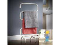 JUST REDUCED AGAIN - White 100w Electric Heated Towel Rail / laundry dryer / laundry airer (RRP £39)