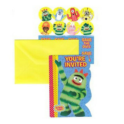 YO GABBA GABBA INVITATIONS (8) ~ Birthday Party Supplies Stationery Cards - Yo Gabba Gabba Invitations