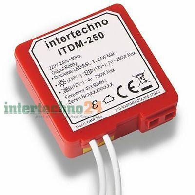 Intertechno Funk-Dimmer ITDM-250, 3 - 250 Watt, für geeig. dimmbare Leuchtmittel online kaufen