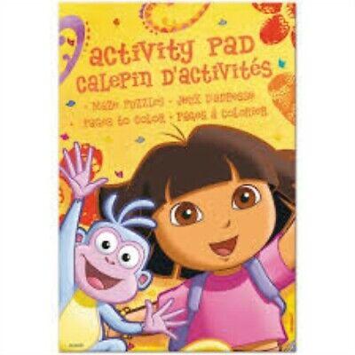 Activity Pads Party Favors (Dora the Explorer Activity Pads 4ct Decoration Favor Party Supplies )