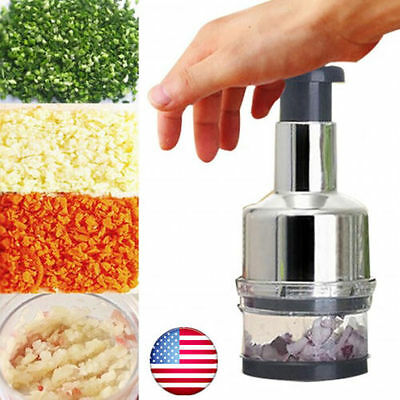 Stainless Onion Chopper Garlic Cutter Slicer Peeler Dicer Kitchen Vegetable Hm01