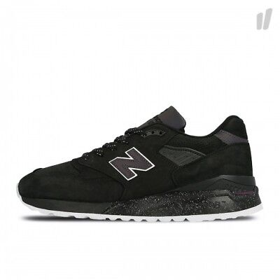 Mens New Balance 998 ABK UK Size 8 Trainers Black Suede Made In USA