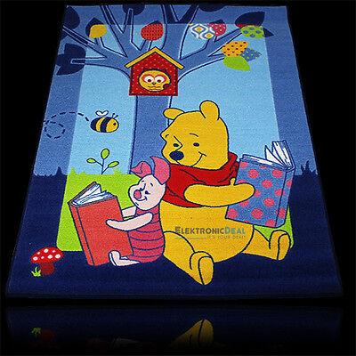 133x95cm Disney Winnie Pooh Kinder Teppich Spiel Kinderzimmer Spielteppich blau