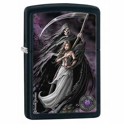 "Zippo ""Anne Stokes-Death and Maiden"" Black Matte Lighter, Full Size, 28856"