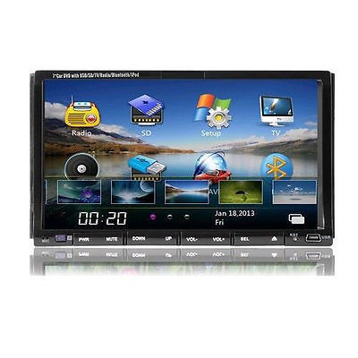 "7""2Din Touch Screen Car Stereo CD DVD Player Radio with SD/USB/Bluetooth/TV/Ipod on Rummage"
