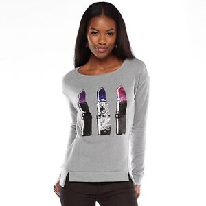 Juicy Couture lipstick sequin sweatshirt