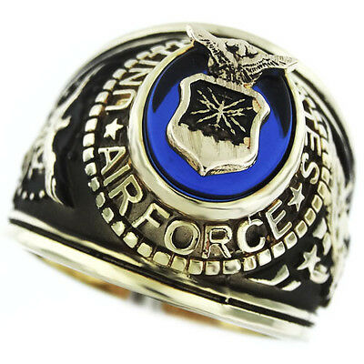 Air Force Seal US Military Gold EP Mens Ring  Seal Mens Ring
