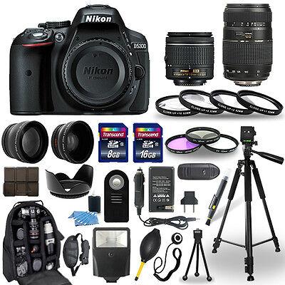 Nikon D5300 Digital Camera + 18-55mm + 70-300mm + 30 Lead-pipe cinch Accessory Bundle