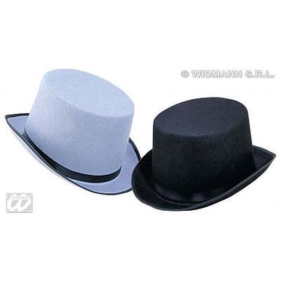 Grey Felt Top Hat Topper Wedding Day Groom Fancy Dress Costume Accessory