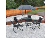 Garden Patio Furniture Set 4 Seater Garden Dining Set Parasol Table And Chairs