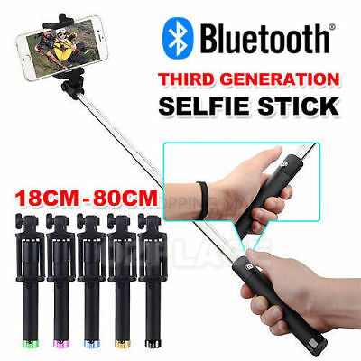 Bluetooth Extendable Handheld Remote Selfie Stick Monopod For Samsung iPhone X 8