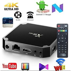 BRAND NEW ANDROID 7.1 ULTRA 4K X96 MINI S905W KODI IPTV 2018