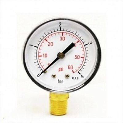 Replacement End Pressure Gauge for Swimming Pool Water Pump Gage Sand Filter