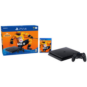 BRAND NEW PS4 slim JET BLACK 1TB NHL 19 bundle ON SALE in store!