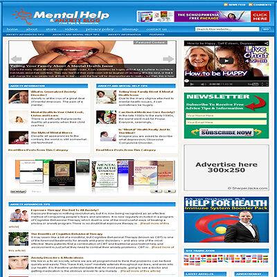 Established Mental Health Affiliate Website Turnkey Business Free Hosting