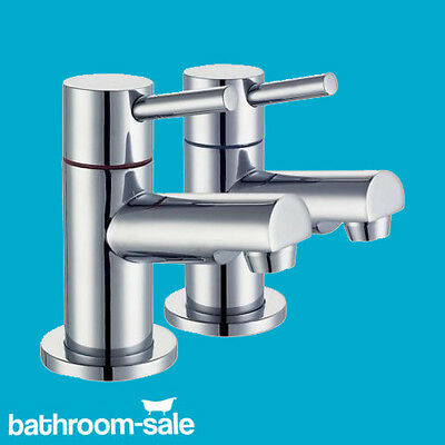 Metro Q Lever Basin Pillar Bathroom Chrome Taps - Genuine | RRP £159 Lever Basin Pillar Taps