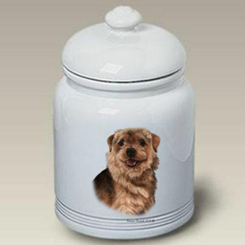Norfolk Terrier Ceramic Treat Jar TB 34225