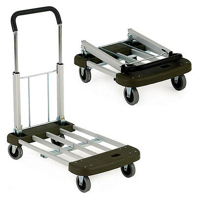 150KG TROLLEY FOLDABLE SACK WHEELS TELESCOPIC HANDLE PLATFORM BARROW TRUCK NEW