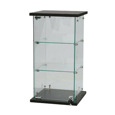 Frameless Countertop Glass Display Case 13 W X 13 D X 24 H Inches