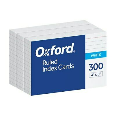 Oxf10001ee Oxford Ruled Index Cards 4 X 6 White 300 Per Pack