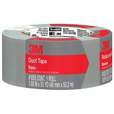3M Basic Duct Tape, 1055, 1.88 Inches by 55 Yards