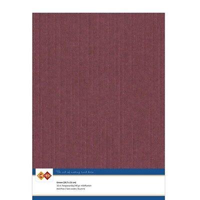 (EUR 4,81/m²) Leinenkarton 10xA4-Bogen bordeaux 14