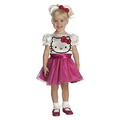 toddler girls sz 2-4 (1-2 year old) HELLO KITTY pink 2t 3t 4t Halloween costume (Halloween 1 Year Old)
