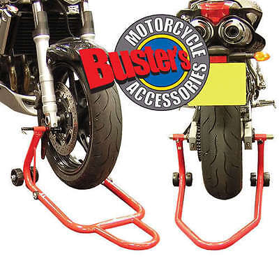 Motorcycle Front Rear Track Paddock Stand Motorbike Set