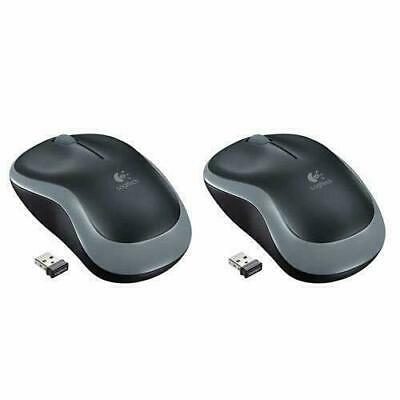Logitech Wireless Mouse M185 Gray Packaging Set Of 2 (910-002225) Free Shipping