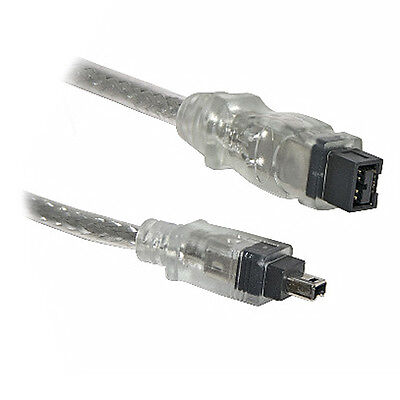 2M Firewire 800 to 400 9 Pin to 4 Pin Cable IEEE1394B...