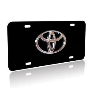 black toyota license plate frame