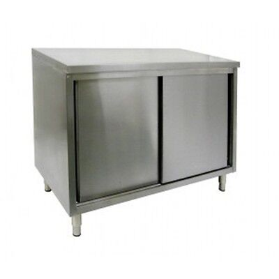 24 X 84 Stainless Steel Storage Dish Cabinet - Sliding Doors